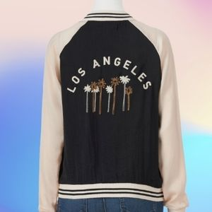 NWOT About A Girl Bomber Jacket, Junior size L